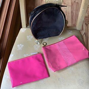 Bundle of 3 Estée Lauder makeup bags
